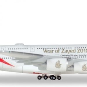 "A380 (Emirates ""Year of Zayed"") A6-EUZ (Herpa Wings 531535)"