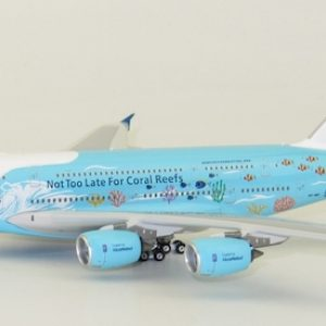 """A380-800 (HIFLY """"Save the Coral Reefs"""") 9H-MIP With Antenna (JC Wings EW4388005)"""