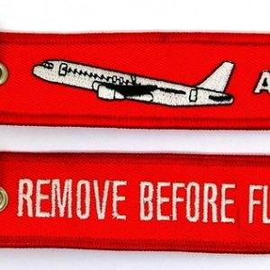 Porta-chaves `Remove Before Flight ` |`A320′