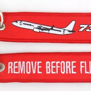 Porta-chaves `Remove Before Flight ` | `737`