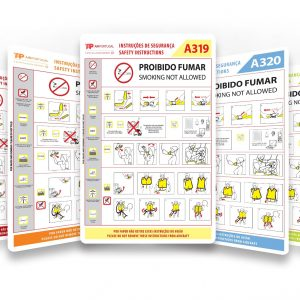 TAP Air Portugal Safety Cards
