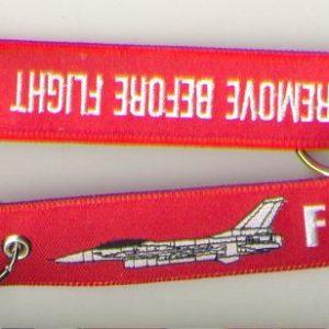 Porta-chaves 'Remove Before Flight' | F16