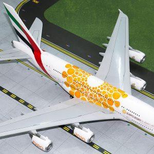 "A380 (Emirates ""EXPO 2020, Orange"") A6-EOU (Gemini Jets G2UAE758)"