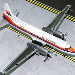 "Convair CV580 (United Express ""Saul Bass Livery"") N73126 (Gemini Jets G2UAL318"