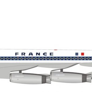 B707-300 (Air France) F-BHSC With Stand (Inflight 200 IF707AF0817)