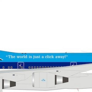 """B747-400 (KLM Royal Dutch Airlines) PH-BFV """"City of Vancouver"""" With Stand (Inflight 200 IF744KL0919)"""
