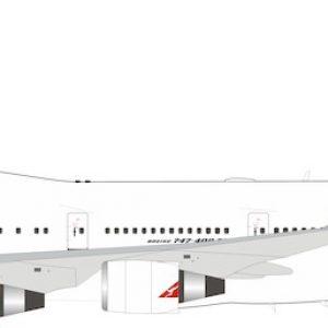 B747-400 (Qantas) VH-OEG With Stand (Inflight 200 IF744QFA1119)