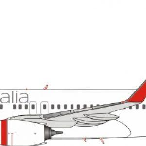 B737-800 (Virgin Australia Airlines) VH-VUA With Stand (J Fox Models JF-737-8-009)