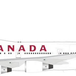 B747-400 (Air Canada) C-GAGN With Stand (B Models B-744-AC-08)