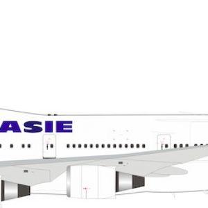 B747-400 (Air France Asie) F-GISA With Stand (B Models B-744-AF-01)