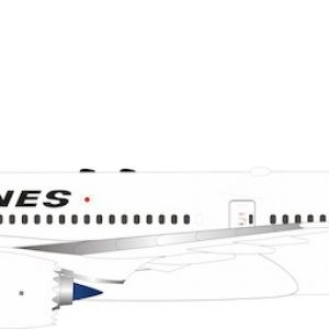 B787-9 (JAL, Japan Airlines) JA871J With Stand (B Models B-789-JA-01)