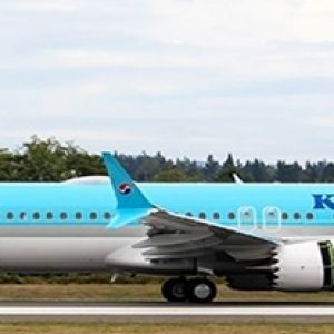 B737-8MAX (Korean Air) HL8351 With Stand (JC Wings EW238M001)