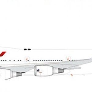 """B747-400 (Air France """"Last Flight"""") F-GITJ With Stand (JC Wings XX2194)"""