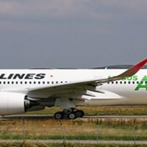 """A350-900 (JAL, Japan Airlines """"JAL Green"""") JA03XJ With Antenna (JC Wings EW4359003)"""