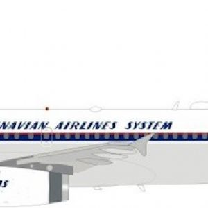 Airbus A319-131 SAS, Scandinavian Airlines System OY-KBO With Stand (J Fox Models JF-A319-003)