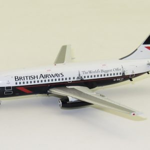 """Boeing B737-200 British Airways """"The World's Biggest Offer"""" G-BKYI With Stand (B Models B-732-BA-08)"""