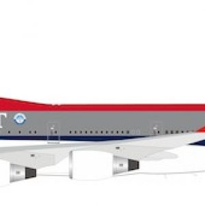 """Boeing B747-400 Northwest Airlines """"City of Shanghai"""" N674US With Stand (B Models B-744-NW-SHANGHAI)"""