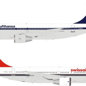 Airbus A310-221 Lufthansa / Swissair F-WZLH With Stand (Inflight 200 B-310-DEMO)