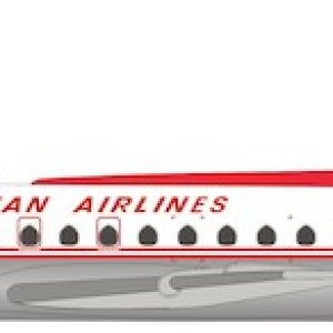 Caravelle SE210 Austrian Airlines OE-LCE With Stand (Inflight 200 IF210OE0919P)