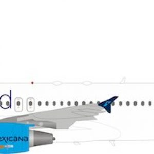 """Airbus A320-200 Mexicana """"Oneworld"""" XA-MXK With Stand (Inflight 200 IF3200819)"""