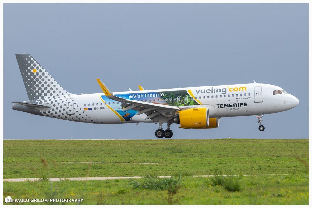 Vueling personaliza A320neo com paisagens de Tenerife (com vídeo)