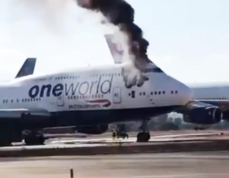 B747-400 British Airways estacionado em Castellon incendiou-se (com vídeo)