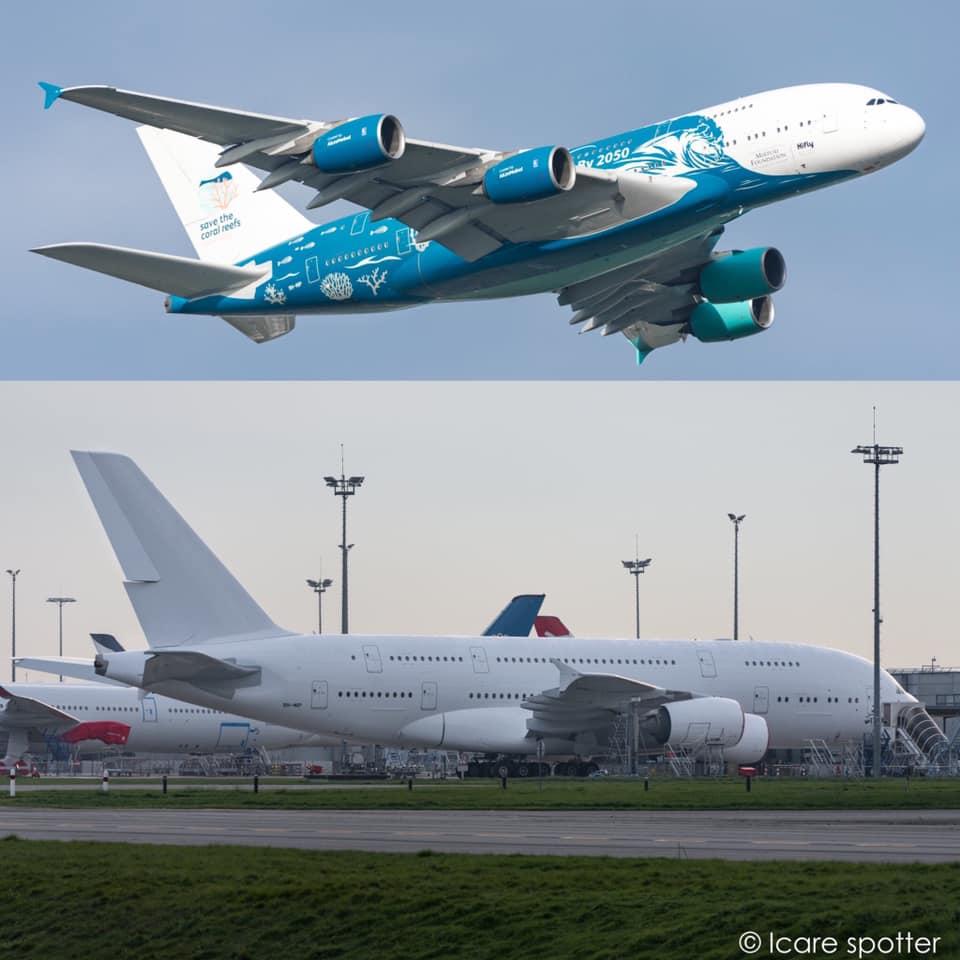 A380 da HiFly já se encontra no deserto a aguardar pelo seu futuro