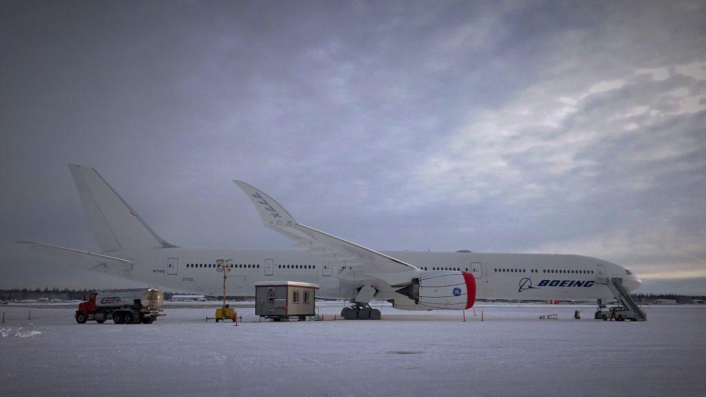 Boeing B777X em testes no Alasca