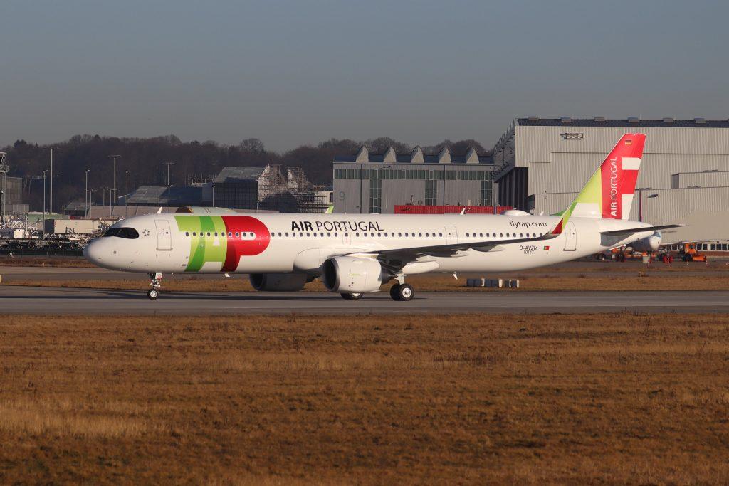 Futuro A321LR CS-TXG da TAP Air Portugal inicia testes em pista