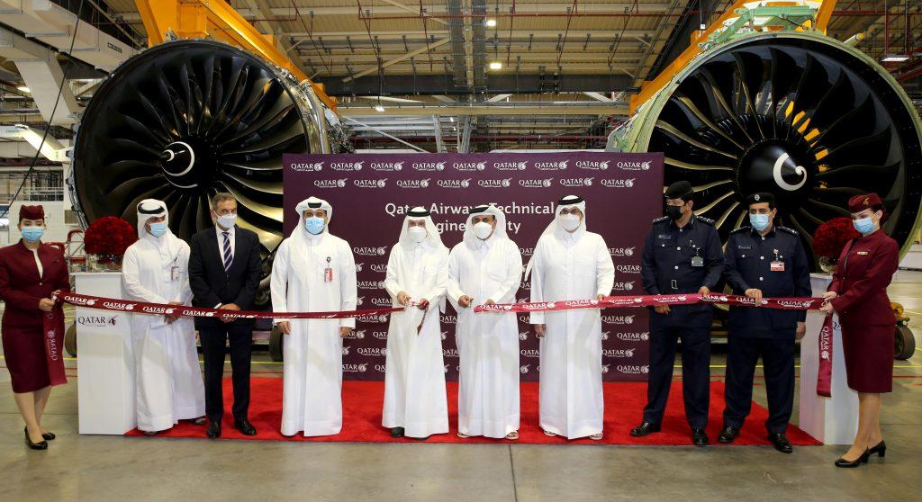 Qatar Airways celebra a abertura de novo edifício para instalação de motores de última geração
