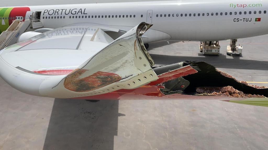 Incidente com A330neo da TAP em Bissau provoca danos num dos sharklet