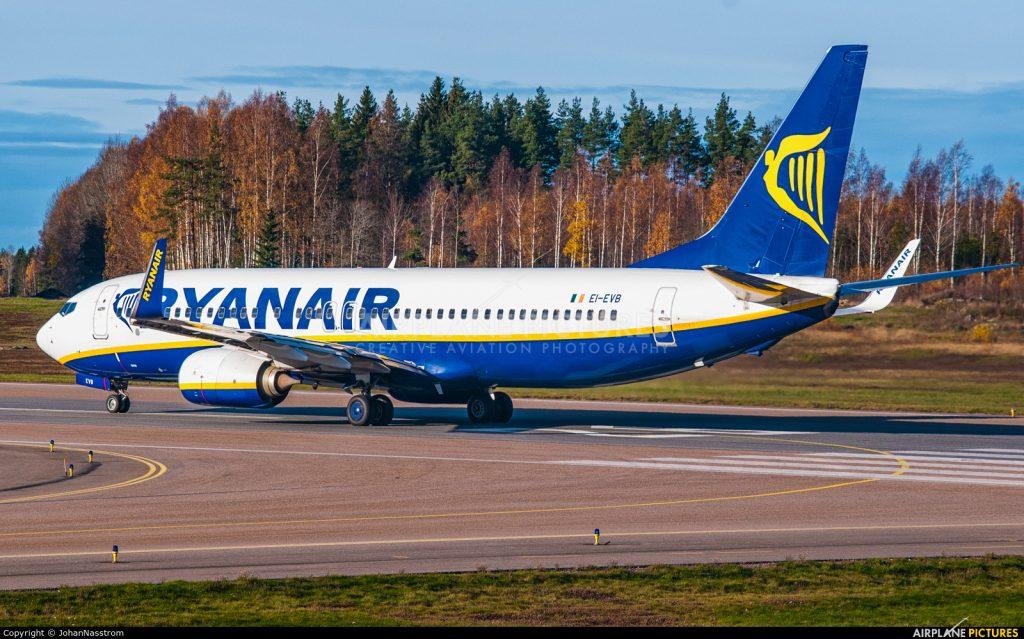 Ryanair vai abrir base em Estocolmo este inverno