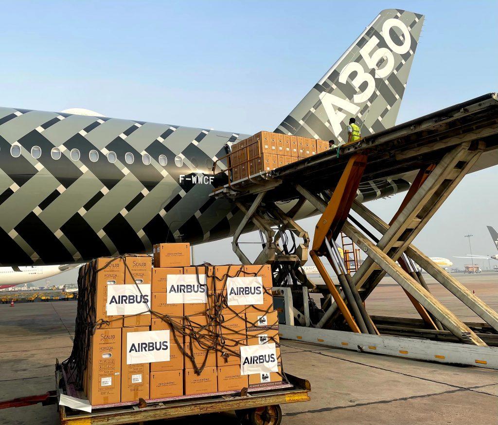 Airbus reforça apoio à Índia no tratamento ao COVID-19, através do envio de oxigénio, ventiladores e UTIs móveis