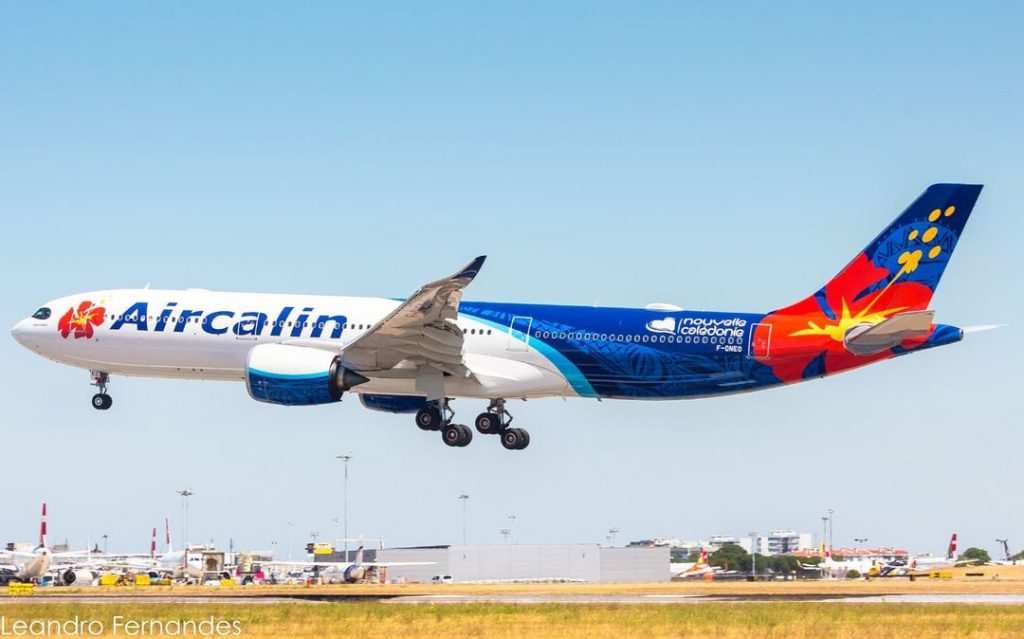 Airbus A330neo da AirCalin em Lisboa