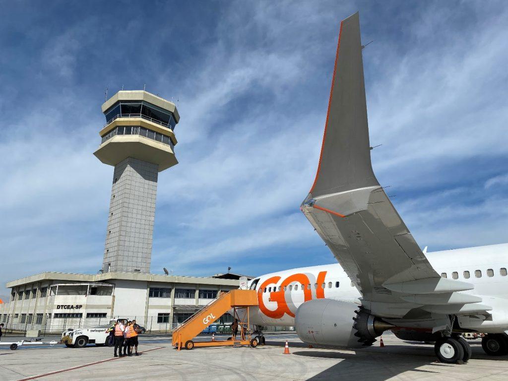 Boeing 737 MAX 8 da GOL entra em operação no aeroporto de Congonhas