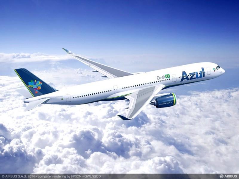 Vários rumores indicam que Azul vai operar Airbus A350