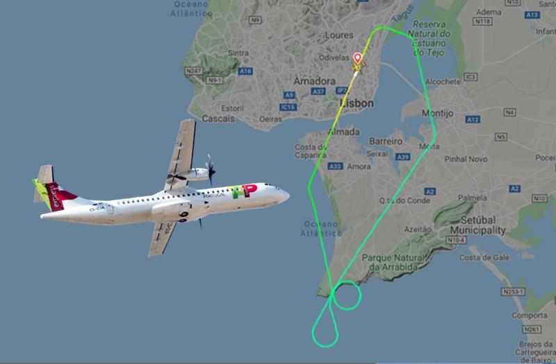 Problema técnico obriga a ATR da TAP Express a regressar ao aeroporto de Lisboa